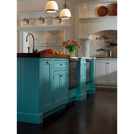 Cottage Kitchen Cabinetry by Plain & Fancy Custom Cabinetry