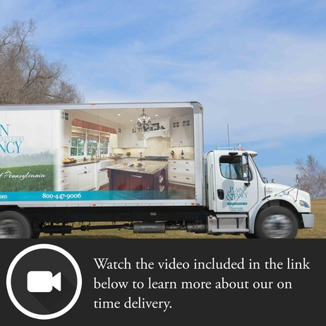 On Time Delivery  by Plain & Fancy Custom Cabinetry