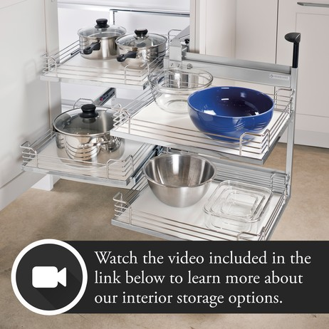 Interior Storage Options  by Plain & Fancy Custom Cabinetry