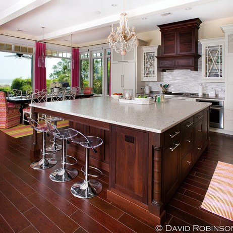 Kitchen in paradise by Plain & Fancy Custom Cabinetry