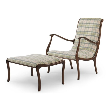 Mathias Chair & Ottoman by Julian Chichester