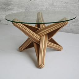 LOCK bamboo coffee table by JAN PAUL