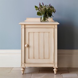 Louis XV Panelled Bedside Cabinet  by And So To Bed