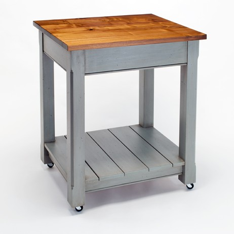 Blue Moon Kitchen Island by Craft-Art Wood Countertops