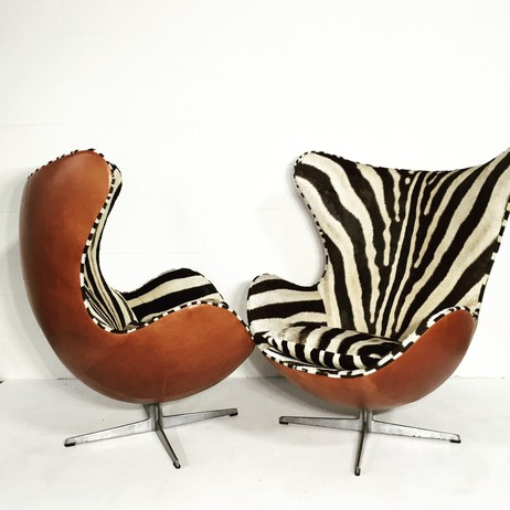 Arne Jacobsen Egg Chairs - Pair by Forsyth
