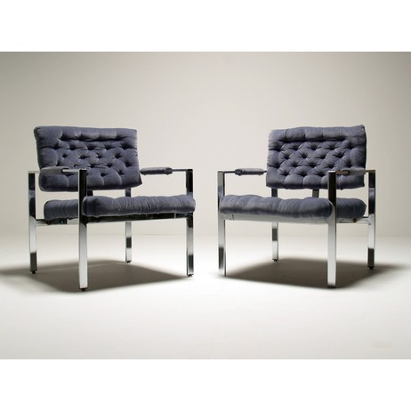 Milo Baughman easy chairs by mid-centuryonline.com