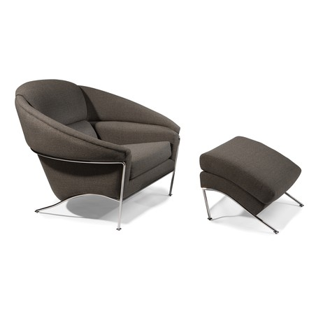 Boldido Lounge Chair and Ottoman by Thayer Coggin