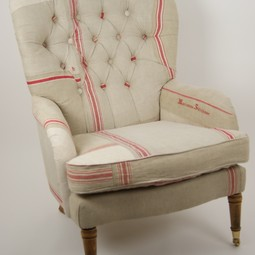 Vintage Mangle Cloth Chair  by Kelly Swallow