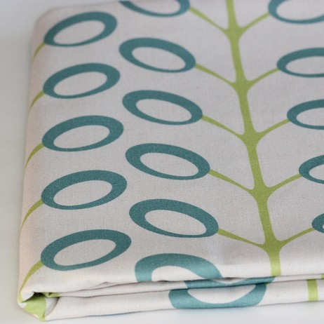 Bud Organic Fabric, Surf/Lime by PURE Inspired Design