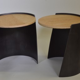 Cylindrical Side Table by Vermontica