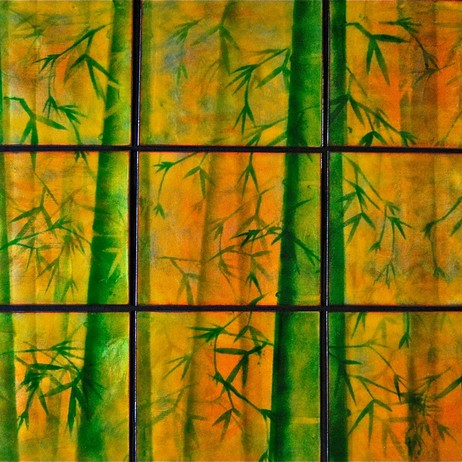 Bamboo Forest in 9 Panels by finefusions.com-cynthia miller