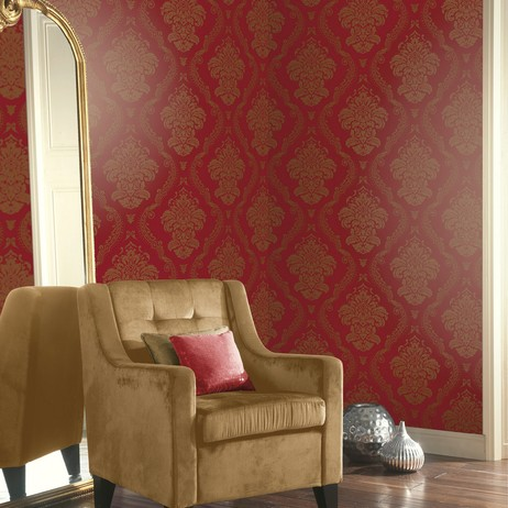 Lucetta Red by Arthouse by Wallpaperdirect