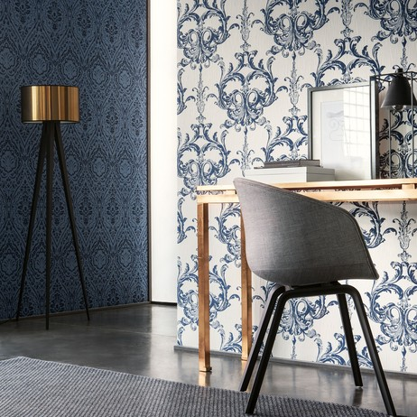 Blenheim Damask by Architects Paper by Wallpaperdirect