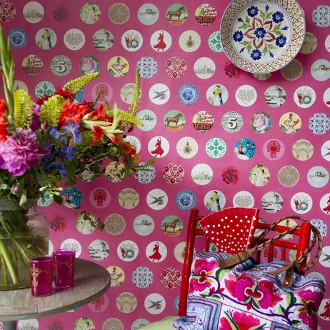 Ole Pink Mural by Coordonne by Wallpaperdirect