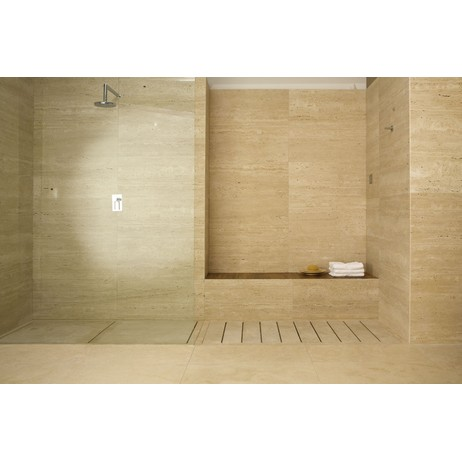 SHOWER TRAY WITH STONE STAVES by The Vero Stone