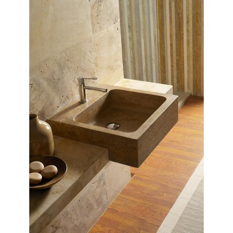 SQUARE Half-Built in wash basin  by The Vero Stone