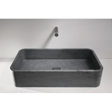 ROUNDED EDGE RECTANGULAR BASIN by The Vero Stone