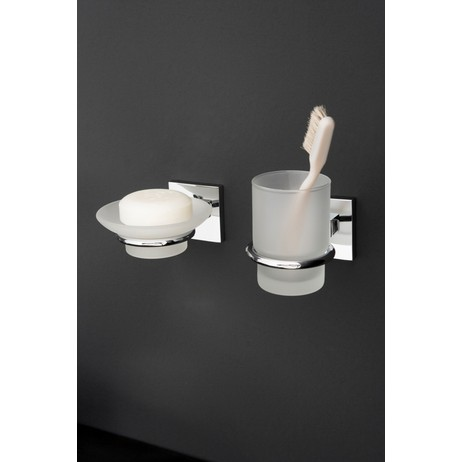 Fontaine Soap Dish and Tumbler by GRAFF