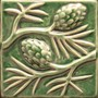 Pine cones relief by North Prairie Tileworks, Inc.