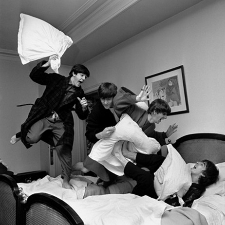 Harry Benson: Beatles Pillow Fight by Cavalier Galleries
