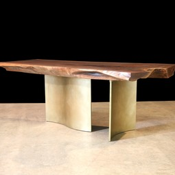Black Walnut Console  / Bronze Legs by John Houshmand