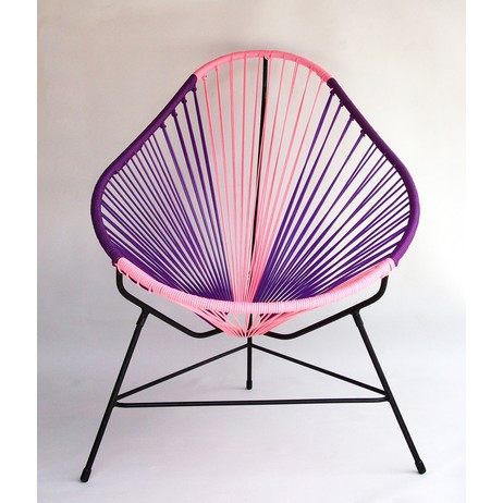 Acapulco Chair - Purple-Pink by Ocho