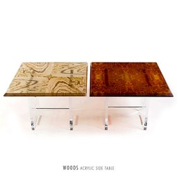 Woods Acrylic Side Table by PAMP'ART LLC