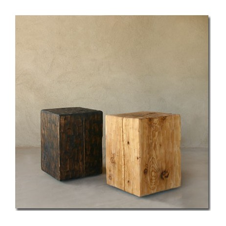 Solid Pine Cube Table by Pfeifer Studio