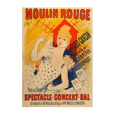 MOULIN ROUGE - CHERET by The Ross Art Group, Inc.