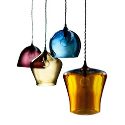 Hand-blown Glass Pendant Lights by Curiousa and Curiousa