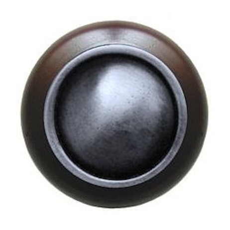 Plain Dome in dark walnut by Notting Hill Decorative Hardware