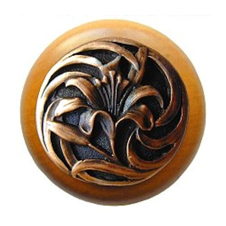 Tiger Lily Maple Knob by Notting Hill Decorative Hardware