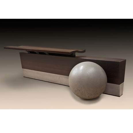 sPHERE bENCH outdoor/indoor by John Dodd Studio