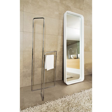 Goccia Mirror and Towel Rack by Gessi