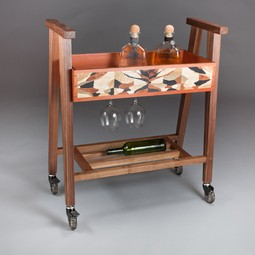 bee wing bar cart by Brooklyn SLaB LLC