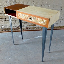Luna moth hall table by Brooklyn SLaB LLC