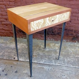 mothwing lamp table by Brooklyn SLaB LLC