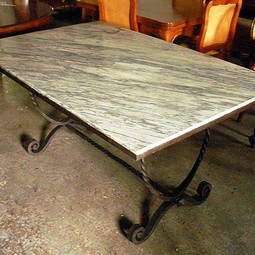 Hand Forged Steel Table by Gardner's Antiques