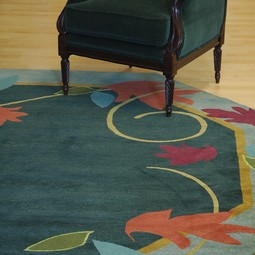FLORA: Falling Leaves - octagon by Silk Road Weaves
