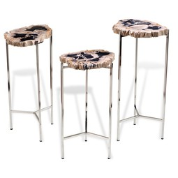 Armani Petrified Wood Drink Tables by Interlude