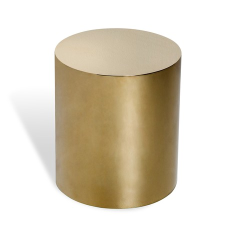 Aubrey Cylinder Side Table - Brass by Interlude