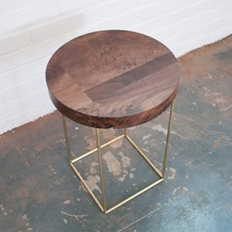 crescent side table by Dylan Design Co