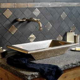 Quadra Sink with Wall Mount Faucet by Rocky Mountain Hardware