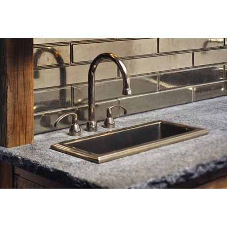Oasis Sink with Deck mount faucet by Rocky Mountain Hardware