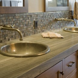 Cirque Sink with Wall Mount Faucet by Rocky Mountain Hardware