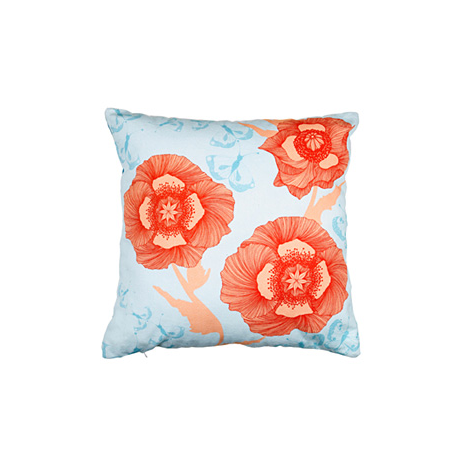 Poppyflower Fabric Cushion by Camilla Meijer