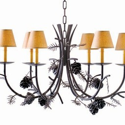 "Pinecone Chandelier 42"" by 2nd Ave Design"