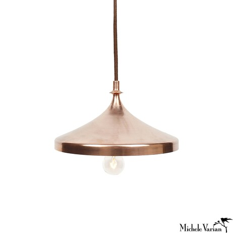 Copper Disk Pendant Lamp by Michele Varian