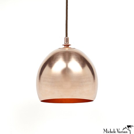 COPPER PENDANT DOME LAMP by Michele Varian