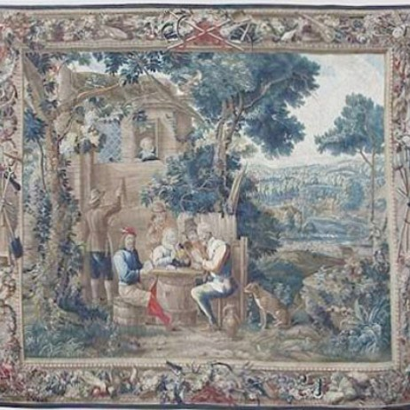 Tapestry Lille France Circa 1730 by Lavender Oriental Carpets